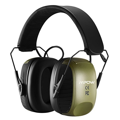 (Mpow Electronic Ear Protection Earmuffs, Sound Amplification Shooting Ear Protection Ear Muffs Noise Protection, NRR 27dB Hearing Protection Ear Muffs for Shooting Hunting Season with a Carrying Bag)