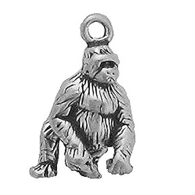 Amazon.com: Plata de ley 925 Classic Congo Selva Gorilla Ape ...