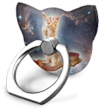 Galaxy Cat Surfing On Bacon Finger Ring Stand, 360 Degree Rotation Thin Universal Phone Ring Holder Kickstand Grip/Stand/Kickstand/Car Mount