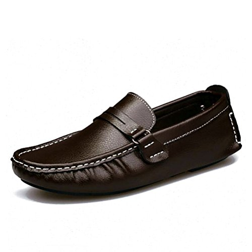 Tongpu Uomo Oxford Scarpe Uomo Casual Mocassini In Ecopelle Marrone