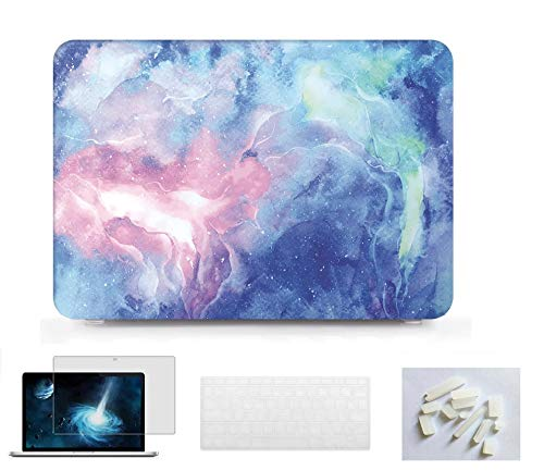 Tablet Notebook Shell Pouch Laptop Case Print Hard Case Cover with Keyboard Skin Cover+Dust Plug+Screen Protector for Apple MacBook Air 13