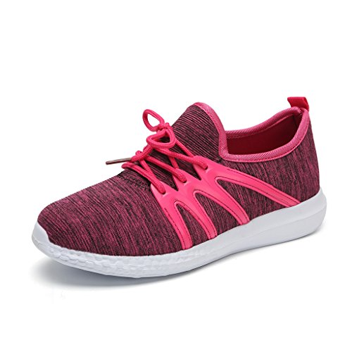 Hawkwell Womens 3d Printed Graphics Fashion Sneaker Fuchsia-1