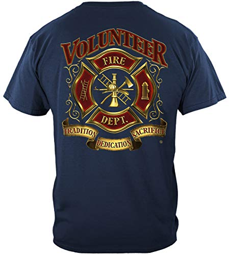 - Volunteer Firefighter Shirt Fire Fighter Tshirts Tradition Sacrifice Dedication
