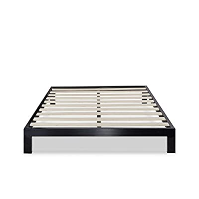 Zinus Arnav Modern Studio 10 Inch Platform 2000 Metal Bed Frame / Mattress Foundation / No Box Spring Needed / Wooden Slat Support / Good Design Award Winner