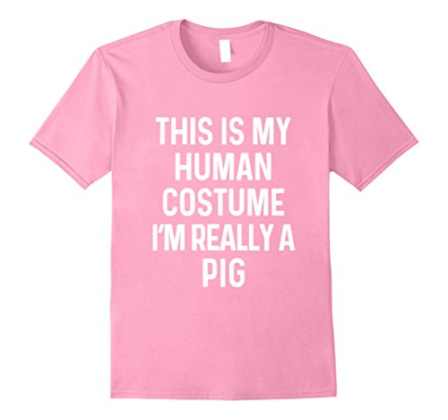 Funny Easy Halloween Costumes Ideas (Mens Funny Pig Costume Shirt Halloween Adults Kids Men Women Large Pink)