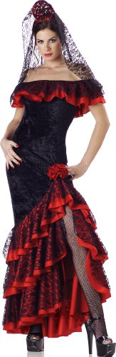 InCharacter Costumes Women's Senorita Costume, Black/Red