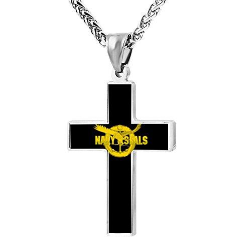US Navy Seals Vector Logo Cross Necklace Pendant Unique Religious Jewelry