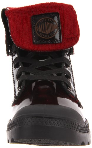 Palladium BAGGY LEATHER KNIT 92755-616-M Damen Stiefel Rot (MIDNIGHT RED)