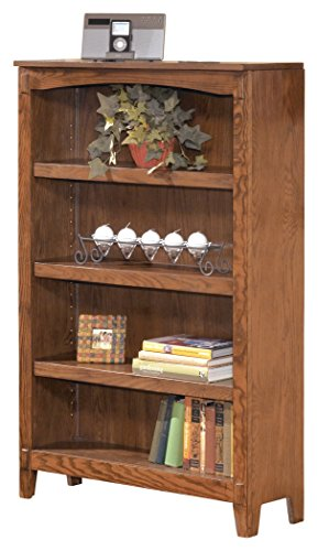 Ashley Furniture Signature Design - Cross Island Medium Bookcase - Vintage Casual Open Cabinet - Light Brown - Oak Tall Bookcase