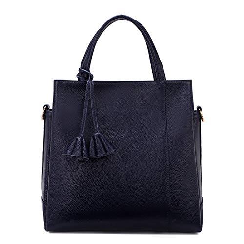 Borsa A Soft In Klerokoh color Litchi Black Tracolla Modello Borse Navy Bulk Pelle Blue Per xqpwtn
