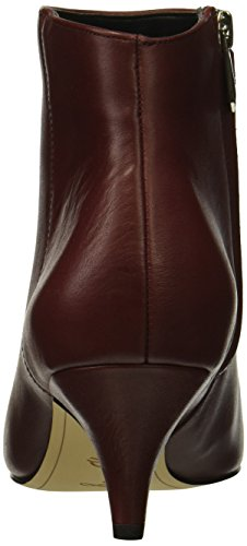 Leather Boot Fashion Kinzey Beet Women's Edelman Sam Red f0gqPaP