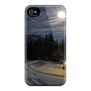 Faddish Phone Hut In Winter Forest Case For Iphone 4/4s / Perfect Case Cover by lolosakes