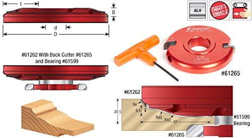 Amana Tool 61262 Insert Carbide Aluminum Raised Panel 7-1/6 D x 1 CH x 1-1/4 Bore Shaper Cutter