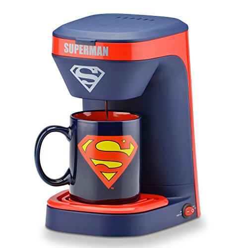 DC Superman 1-Cup Coffee Maker with Mug