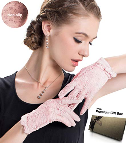 Short Wedding Party Gloves - Womne's Bridal Wedding Lace Gloves Derby Tea Party Gloves Victorian Gothic for Lady