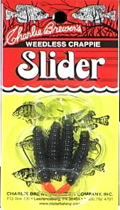 Slider Crappie Slider Lure, 1/16-Ounce, Black/Chartreuse