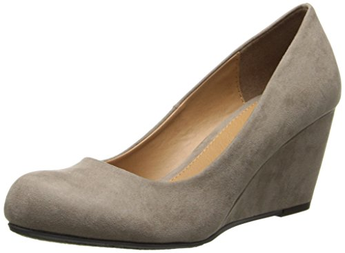 Wedge Suede Heels Brown - Cl by Chinese Laundry Women's Nima Wedge Pump, Dark Taupe Super Suede, 8 M US