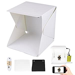 Web based online business Beginner Selling Product Foldable Equipment Light Accessories 10+10 Led Bright White Light W/2 Background Black, White Powered by USB Connection TLG-2