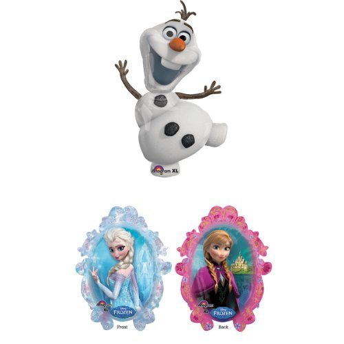 Olaf Supershape XL and Frozen Sister Supershape XL Pair Balloons