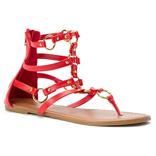 Penny Loves Kenny Ankle Strap Heels (Penny Loves Kenny Women's Matrix Dress Sandal, Red Matte, 6 M US)