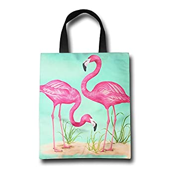 Amazon.com: Rosa Flamingo compra reutilizable bolsa de ...