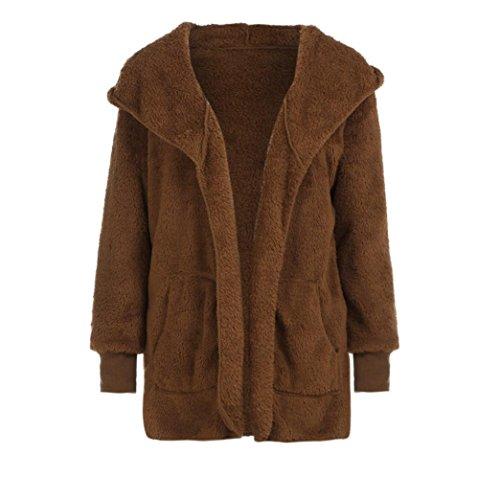 M con Marrón sintética de abrigo XXXL de abrigos mujer OverDose piel largo capucha Oqv4HSWnw