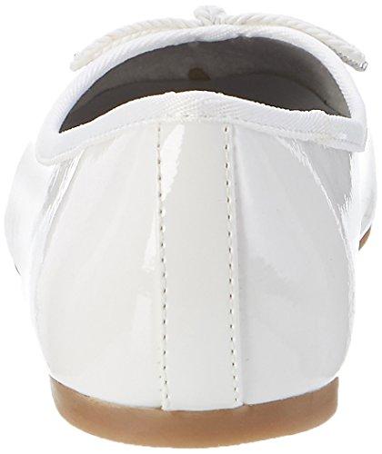 Tamaris 22123 - Bailarinas de material sintético para mujer Blanco (WHITE PATENT 123)