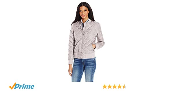 7 For All Mankind Womens Water Repellent Nylon Bomber
