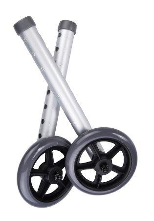 McKesson Universal Walker Wheels with Rear Glides