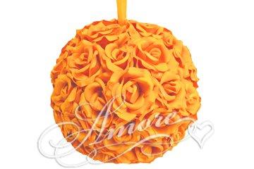 12 Inches Silk Pomander Kissing Ball Popsicle Tangerine