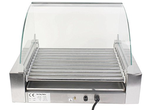 Heaven Tvcz Roller Grill Cooker Machine Commercial 30 Hot Dog 11 W/ cover New For both commercial uses and Household Uses