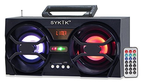 Price comparison product image Sykik SP2091BT Bluetooth Boom Box with SD / MMC / USB,  FM Radio,  Built-in Rechargeable Battery & Remote Control