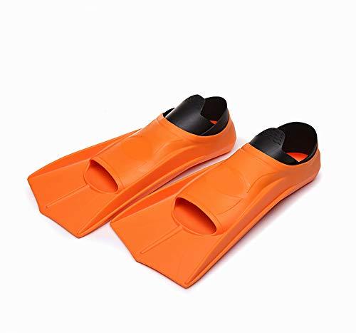 ACOMG Snorkel Fins for Kids,Snorkeling Short Fins, Kid Boys Girls Flippers, for Swimming,Snorkeling,Diving and Watersports,Orange-L