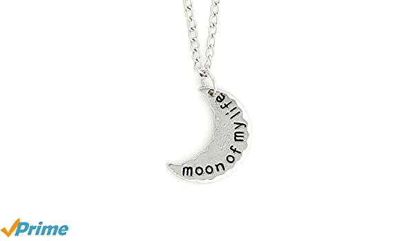 Magic Metal Moon of My Life Necklace Silver Tone NV42 Lunar Crescent Pendant Fashion Jewelry