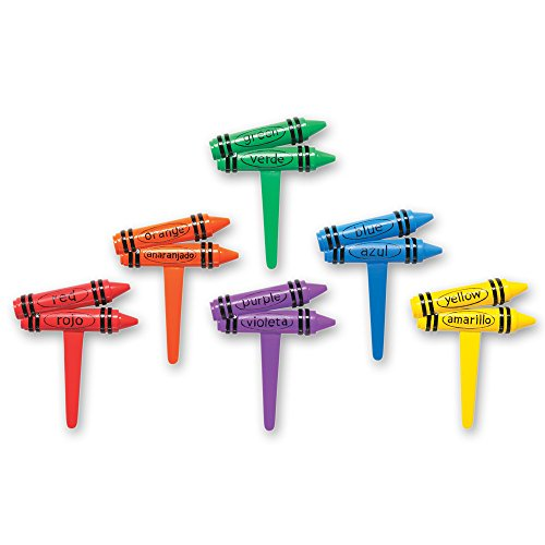 DecoPac Bilingual Crayons DecoPic Cupcake product image