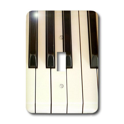 Price comparison product image 3dRose LLC lsp_45224_1 Piano Keys- Instruments- Photography,  Single Toggle Switch