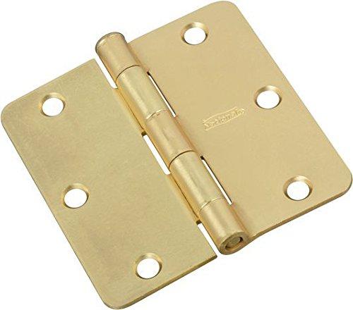 M BRANDS HHI N830-333 Door Hinge, 3.5-Inch, Satin Brass, 3-Pack ()