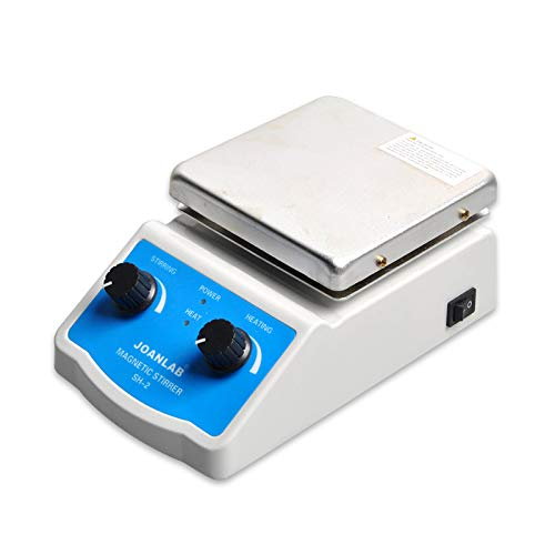 JoanLab SH-2 Integrated Magnetic Stirrer with Analog Hot Plate, 2,000mL, 100-1400rpm, 350°C Max. Temp, 30mm Stir Bar and Thermometer Support Stand Included by JoanLab (Image #4)