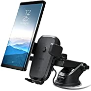 iOttie Easy One Touch Qi Wireless Fast Charge Car Mount for Samsung Galaxy S9 S9 Plus S8 S7/S7 Edge Note 8 5 & Standard Charge for iPhone X 8/8 Plus & Qi Enabled Devices Includes Dual Car Charger