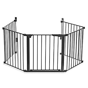 "31""Tall Baby Safety Security Gate Auto Close HearthGate in Black"