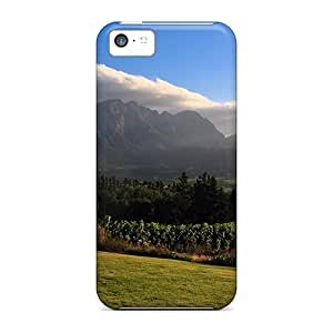 Hot Fashion MgZHKAt5005MReeB Design Case Cover For Iphone 5c Protective Case (vineyards Of Franschhoeks)
