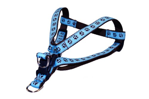 Sassy Dog Wear 15-21-Inch Blue/Brown Puppy Paws Dog Harness, Small from Sassy Dog Wear
