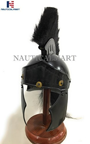 Casco NAUTICAL MART Roman Greco Negro Plume Wearable Halloween disfraz: Amazon.es: Deportes y aire libre