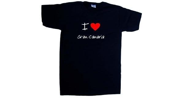 I Love Heart Gran Canaria V-Neck T-Shirt