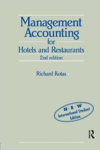 Book Management Accounting for Hotels and Restaurants