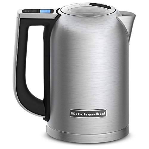 KitchenAid KEK1722SX 1.7-Liter Electric Kettle with LED Display - Brushed Stainless Steel