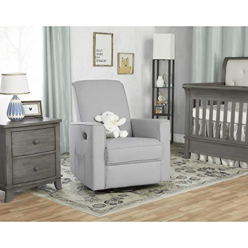 41A%2BSk1CO0L - Evolur Raleigh Basic Glider |Recliner| Rocker, Grey