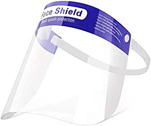 Durable 5 Packs and 10 Packs Size Variations Lightweight 2//Pack and Comfortable Premium face Shields That are Made with Ultra-Clear Thick Plastic Vita Culina Face Shields: Sanitary