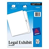 Avery-Style Premium Collated Legal Index Exhibit Dividers, A-Z and Table of Contents, Side-Tab, 8.5 x 11-Inches, 1 Set (11374)