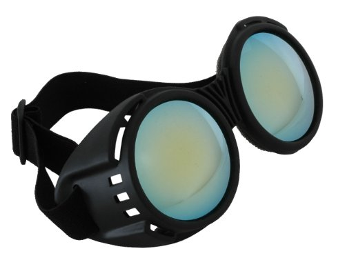 elope Steampunk Industrial Black Goggles for Women]()